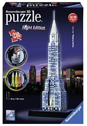 Ravensburger 3D puzzel Chrysler Building Night Edition 216 stukj