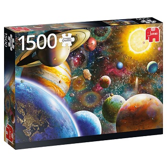 Jumbo legpuzzel planeten in de ruimte 1500 stukjes