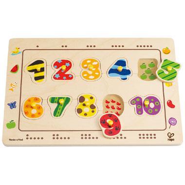 Hape houten puzzel Cijfers 10 stukjes vanaf 3 jaar