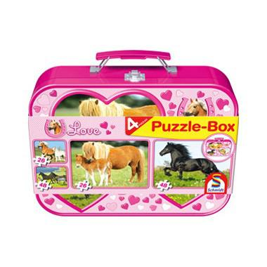 Schmidt kinderpuzzel in boxPaarden 48 stukjes vanaf 3 jaar