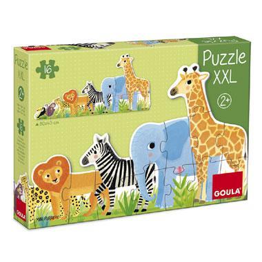 Goula XXL kinderpuzzel Jungle van Klein naar Groot 16 stukjes va