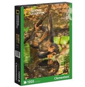 Clementoni National Geographic legpuzzel Chimpansee 1000 stukjes