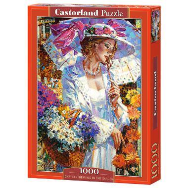 Selecta Castorland legpuzzel Chrysanten in de Tuin 1000 stukjes
