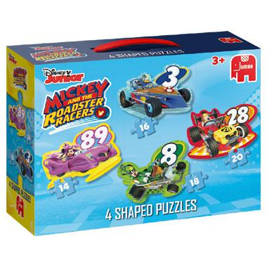 Jumbo vormpuzzel Disney Mickey Mouse en de Wegracers 20 stukjes