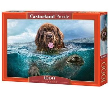 Selecta Castorland legpuzzel grote Bruine Hond 1000 stukjes