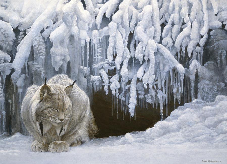Eureka Cobble hill legpuzzel Kat in de Sneeuw 1000 stukjes