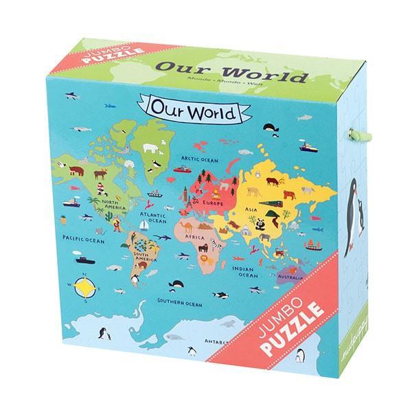 Mudpuppy Jumbo puzzel de Wereld 25 stukjes vanaf 2 jaar