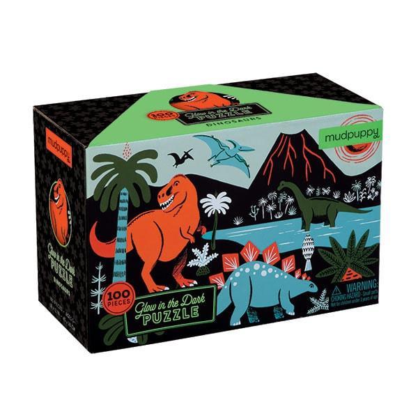 Mudpuppy kinderpuzzel Glow in Dark Dinosaurus 100 stukjes vanaf