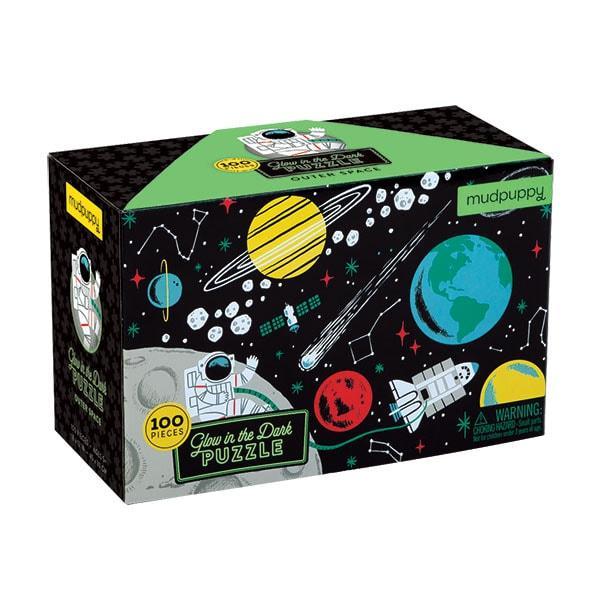Mudpuppy kinderpuzzel glow in dark de ruimte 100 stukjes vanaf 5