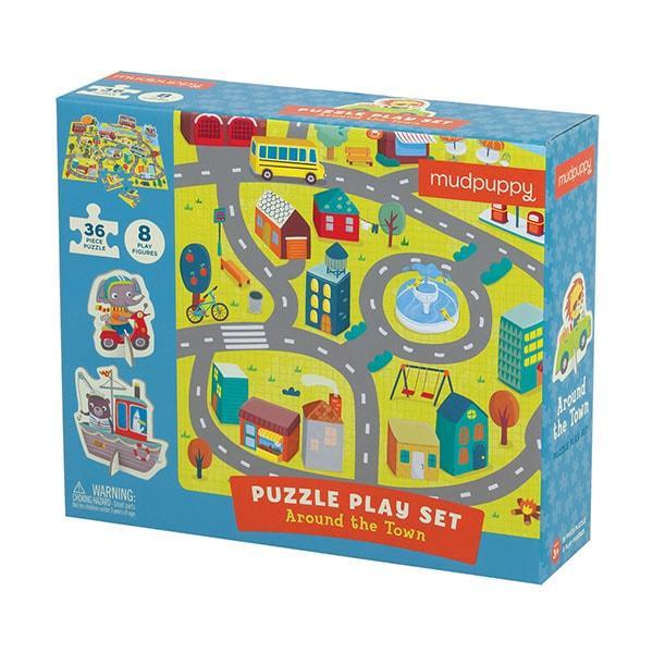 Mudpuppy puzzel met figuren stad 36 stukjes vanaf 3 jaar