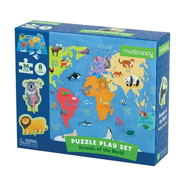 Mudpuppy puzzel Figuren Werelddieren 36 stukjes vanaf 3 jaar