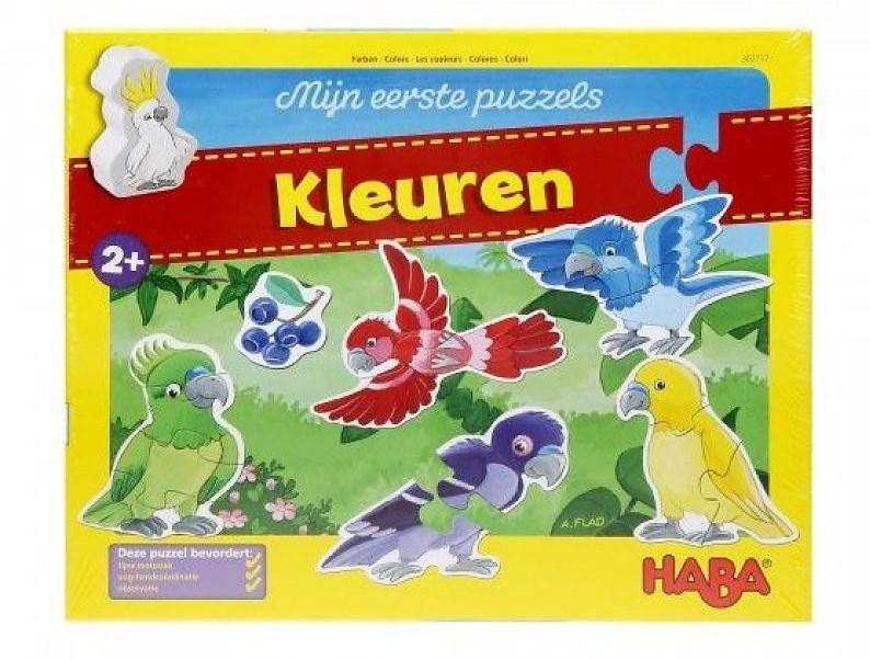 Haba mijn eerste puzzels kinderpuzzel Kleuren 4 stukjes vanaf 3