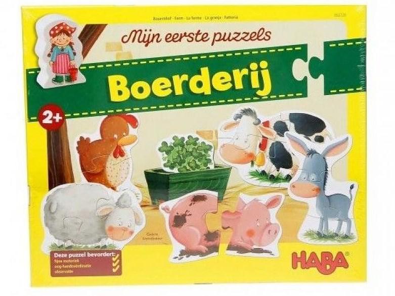 Haba mijn eerste puzzels kinderpuzzel Boerderij 2 tot 4 stukjes