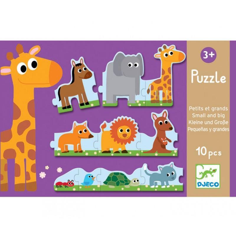 Djeco kinderpuzzel dieren 10 stukjes vanaf 3 jaar