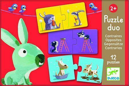 Djeco kinderpuzzel Tegenstellingen 12 stukjes vanaf 2 jaar