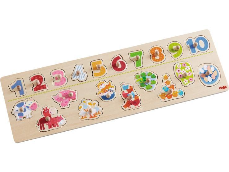 Haba houten inleg kinderpuzzel Beestachtig Tel Plezier 20 stukje