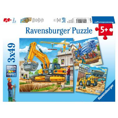 Ravensburger kinderpuzzel Grote Bouwvoertuigen 49 stukjes vanaf