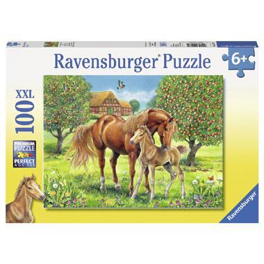 Ravensburger XXL puzzel paarden in de wei 100 stukjes vanaf 6 ja