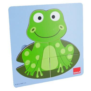 Jumbo goula inleg kinderpuzzel Kikker 10 stukjes vanaf 2 jaar