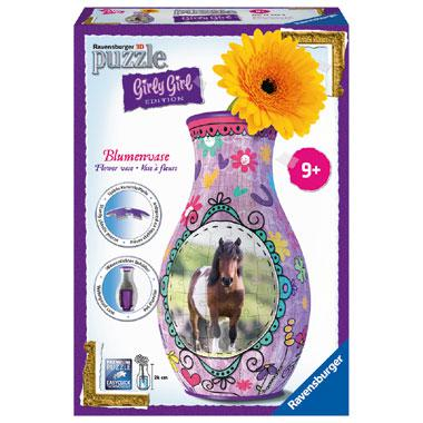 Ravensburger Girly Girl 3D puzzel Bloemenvaas Paarden 216 stukje