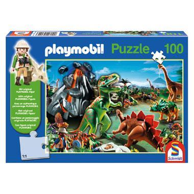 Schmidt playmobil kinderpuzzel In Dino Country 100 stukjes vanaf