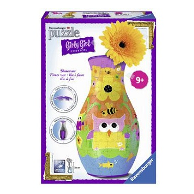 Ravensburger Girly Girl 3D puzzel Funky Owls Bloemenvaas 216 stu
