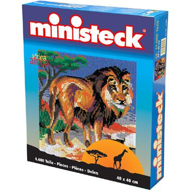 Ministeck kinderpuzzel Afrika Leeuw 4400 stukjes vanaf 6 jaar
