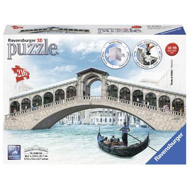 Ravensburger 3D puzzel gebouw Rialtobrug Venetie 216 stukjes