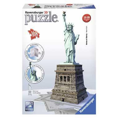 Ravensburger 3D puzzel State of Liberty 108 stukjes