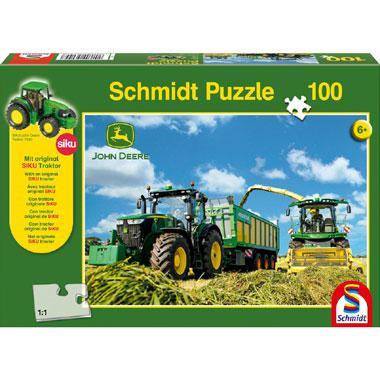Schmidt John Deere puzzel Tractor 100 stukjes vanaf 6 jaar