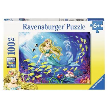 Ravensburger XXL kinderpuzzel zeemeermin 100 stukjes vanaf 6 jaa