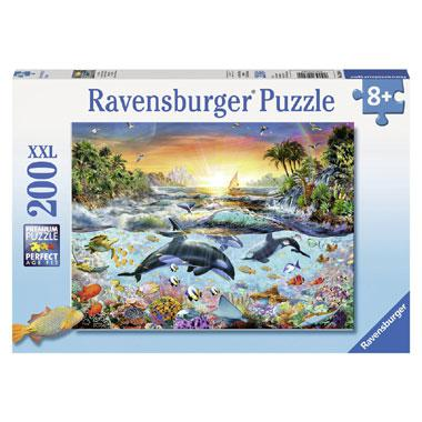 Ravensburger XXL kinderpuzzel Orka Paradijs 200 stukjes vanaf 8