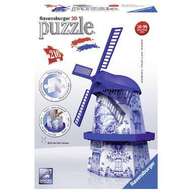 Ravensburger 3D puzzel Windmolen Delftsblauw 216 stukjes