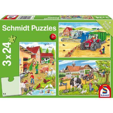 Schmidt puzzel Op de boerderij 24 stukjes vanaf 3 jaar