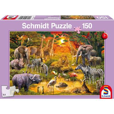 Schmidt kinderpuzzel Animals in Africa 150 stukjes vanaf 7 jaar