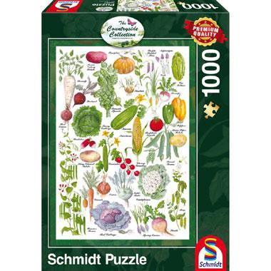 Schmidt Country side Collection legpuzzel Groente tuin 1000 stuk