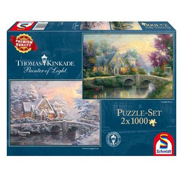 Schmidt legpuzzel Thomas Kinkade Painter of Light 1000 stukjes