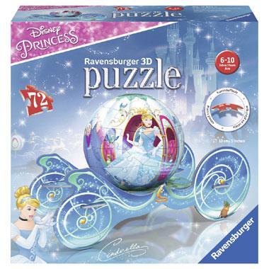 Ravensburger 3D puzzel Disney prinses koets 72 stukjes vanaf 6 j