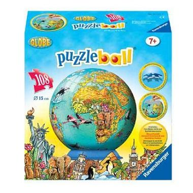 Ravensburger 3d puzzelball wereldbol vanaf 7 jaar