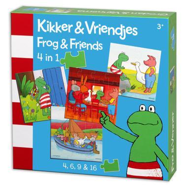 Bambolino Toys 4 in1 puzzel Kikker & vriendjesvanaf 3 jaar