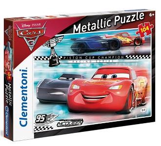 Clementoni Disney Cars 3 metallic puzzel vanaf 6 jaar 104 stukje