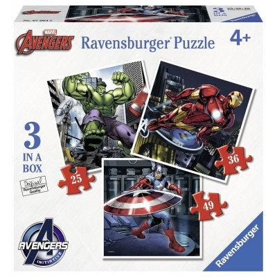 Ravensburger Avengers puzzelset 49 stukjes vanaf 4 jaar
