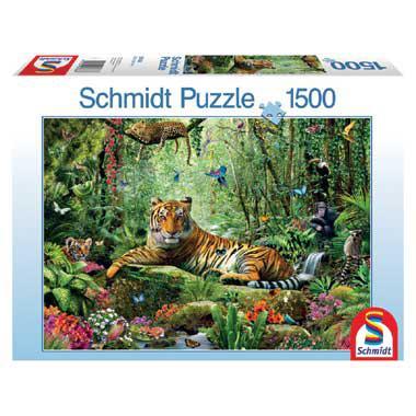 Schmidt puzzel Jungle Tijgers 1500 stukjes
