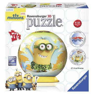 Ravensburger 3D puzzelbal de Minions 72 stukjes vanaf 6 jaar
