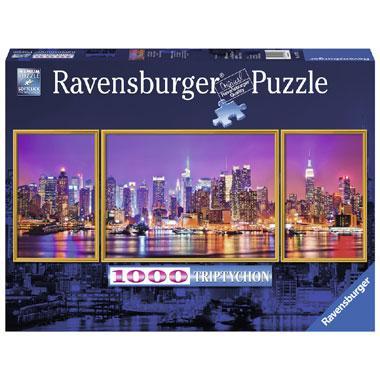 Ravensburger puzzels triptychon New York 1000 stukjes