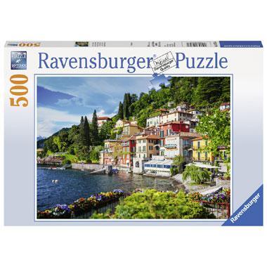Ravensburger puzzel Comomeer Italie 500 stukjes voor senioren