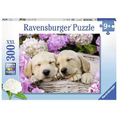 Ravensburger XXL puzzel schattige hondjes in mand 300 stukjes