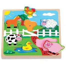 New Classic Toys inlegpuzzel boerderij met geluid 6+ stukjes voo