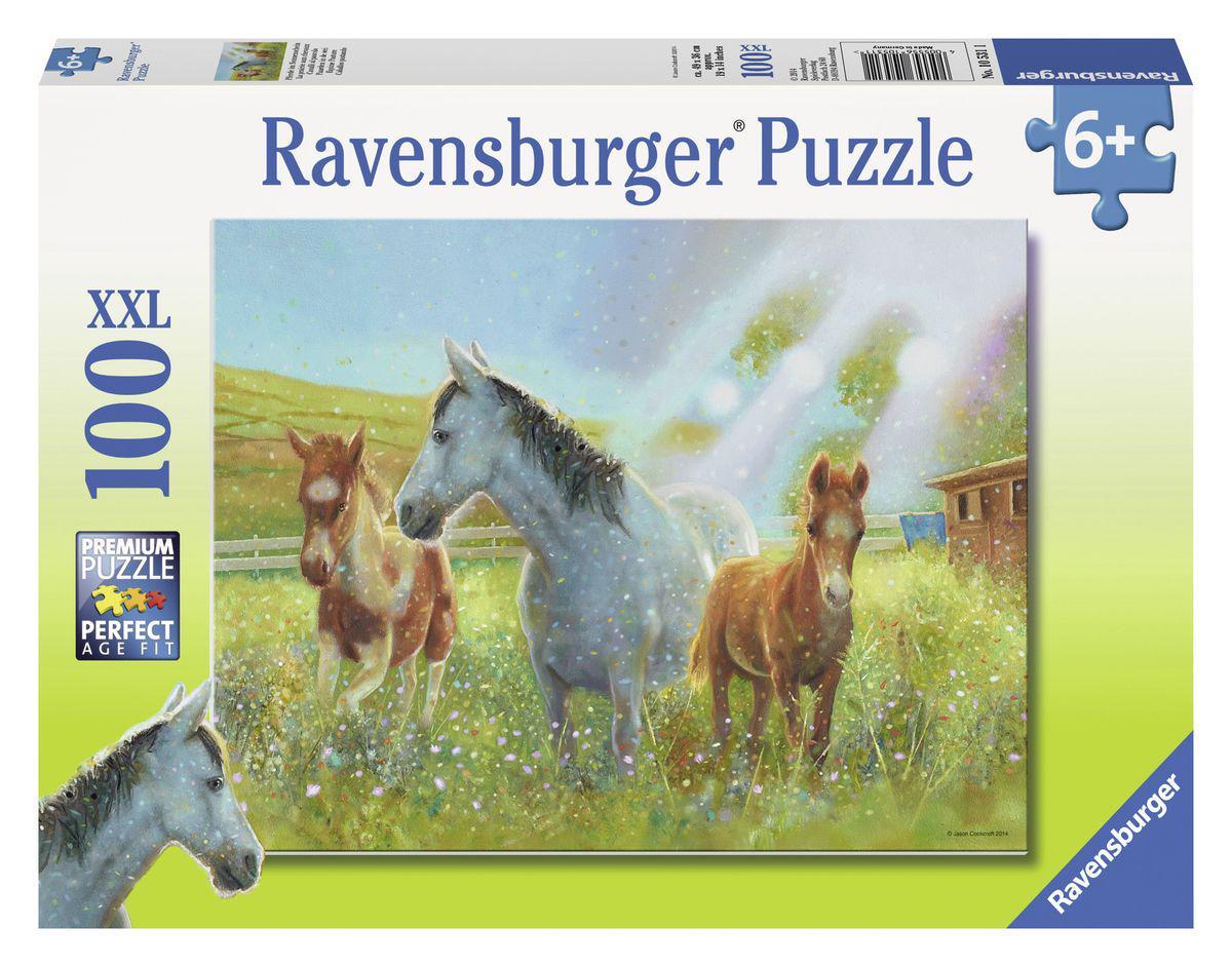 Ravensburger puzzel XXL Paarden in de wei 100 stukjes vanaf 6 ja