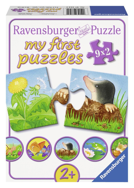 Ravensburger My first puzzels Dieren in de tuin vanaf 2 jaar